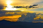 Missoula Prints - Blue Mountain Sunset Print by Karon Melillo DeVega