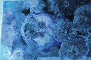 Blue Muted Memories Print by Anne-Elizabeth Whiteway