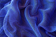 Curl Prints - Blue Net Background Print by Carlos Caetano