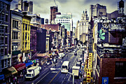 Black Commerce Art - Blue New York City by Brian Lambert