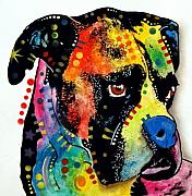 Boxer Art Mixed Media - Blue Nose Boxer  EBAY by Dean Russo