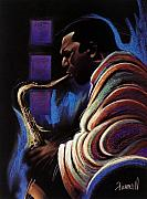 Sax Posters - Blue Note Poster by Albert Fennell