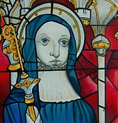 Glass Drawings - Blue Nun by Joan Pollak