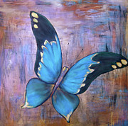 Colorful Butterfly Prints - Blue Nymph Print by Samantha Lockwood
