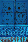 Tunisia Prints - Blue On Blue Print by Bob Christopher