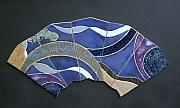 Abstract Ceramics Originals - Blue on Blue by Jackie Ramo
