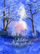 Watercolors - Blue on Blue by Rich Stedman