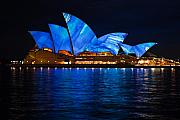 Opera House Photos - Blue Opera by John Buxton