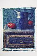 Drawers Posters - Blue pitcher Poster by Garry Gay