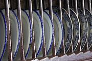 Kitchen Plates Acrylic Prints - Blue Plates Acrylic Print by Lauri Novak