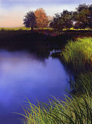 Blue Pond Prints - Blue Pond Print by Robert Foster