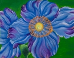 Sweta Prasad Paintings - Blue Poppies by Sweta Prasad