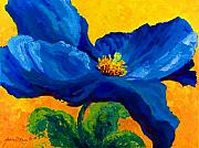 Fall Paintings - Blue Poppy by Mmarion Rose