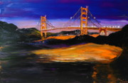James Dunbar - Blue Purple Golden Gate...