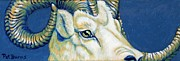 Goat Painting Originals - Blue Ram by Pat Burns