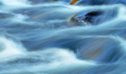 Cascading Water Prints - Blue Rapids - Nature abstract Print by Thomas Schoeller