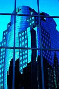 Gebaeude Metal Prints - Blue Reflections ... Metal Print by Juergen Weiss
