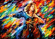 Afremov Prints - Blue Rhapsody Print by Leonid Afremov