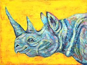 Rhinoceros Originals - Blue Rhinoceros by Suzan  Sommers