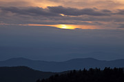 Cowee Mountain Overlook Prints - Blue Ridge Clearing Print by Andrew Soundarajan