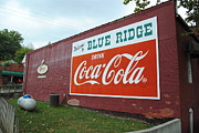 Coca-cola Signs Art - Blue Ridge Coke by Jost Houk