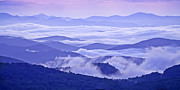 Crepuscular Rays Photos - Blue Ridge Morning Panorama by Rob Travis