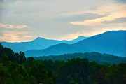 Great Smokey Mountains Prints - Blue Ridge Mountains Print by Susanne Van Hulst