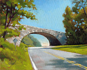 Blue Ridge Parkway Paintings - Blue Ridge Overpass by Todd Baxter