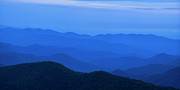 Sky Blue Framed Prints - Blue Ridge Panorama Framed Print by Andrew Soundarajan