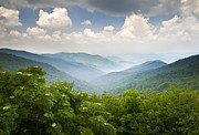 Craggy Gardens Framed Prints - Blue Ridge Parkway - Craggy Gardens Overlook Framed Print by Dave Allen
