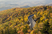 Road Trip Framed Prints - Blue Ridge Parkway Linn Cove Viaduct Framed Print by Pierre Leclerc