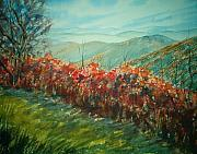 Blue Ridge Parkway Paintings - Blue Ridge Parkway by Shirley Braithwaite Hunt