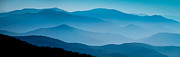 Asheville Framed Prints - Blue Ridges Panoramic Framed Print by Joye Ardyn Durham