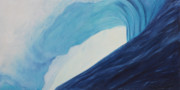 Surf Artist Paintings - Blue Room by Kelly Headrick