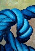 Knot Paintings - Blue Rope 2 by Ana Maria Edulescu