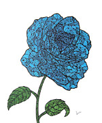 Essence Originals - Blue Rose 2 by Leanne Karlstrom