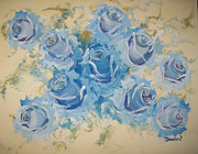 Raymond Doward - Blue Roses Abstract