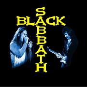 Black Sabbath Posters - Blue Sabbath Poster by Ben Upham