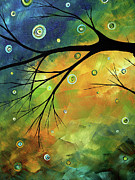 Lime Green Posters - Blue Sapphire 2 by MADART Poster by Megan Duncanson