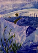 Sharks Paintings - Blue Shark by Spencer  Joyner