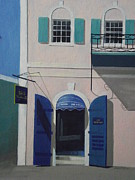 Charlotte Painting Prints - Blue Shutters In Charlotte Amalie Print by Robert Rohrich