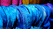 Handcrafted Art - Blue Silk by Susan Herber