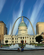 Marty Koch Posters - Blue Skies Over St. Louis Poster by Marty Koch