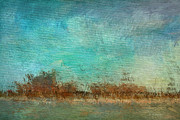Impressionist Mixed Media - Blue Sky and Beach by Deborah Benoit