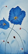 James Dunbar - Blue Sky Blue Poppies 1