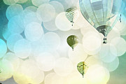 Celebration Art Print Prints - Blue Sky Bokeh Balloons Print by Andrea Hazel Ihlefeld