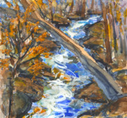 Mary Byrom Prints - Blue Sky Creek Print by Mary Byrom