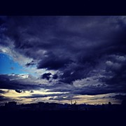 Storm Art - #blue #sky #gray #clouds #cloudy #storm by Julia Meyer