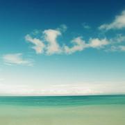 Blue Sky Over Ocean Print by Jodie Griggs