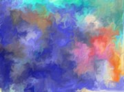 Multi Color Digital Art - Blue Sky Painting by Don  Wright